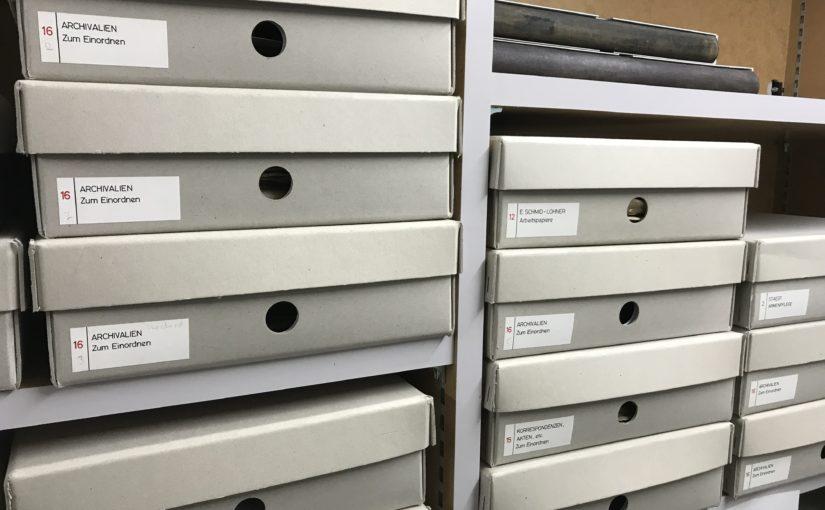 Beginn der Identifikation der Archivalien